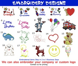 Baby Bib Embroidery Designs