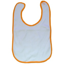 Orange Personalized Baby Bibs
