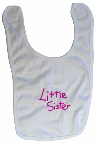 Little Sister Baby Bib